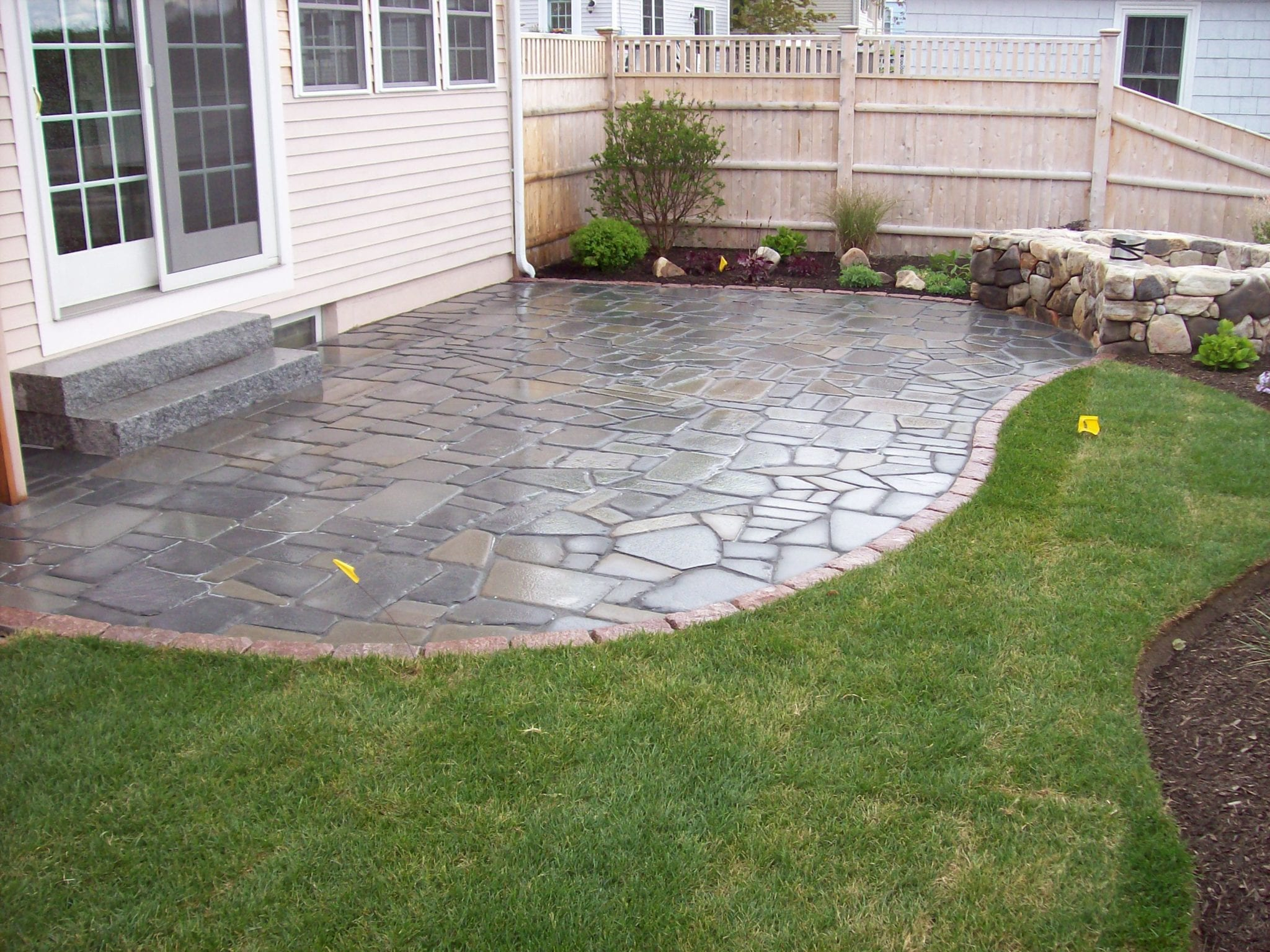 Blue Stone Patio and Lanscaping