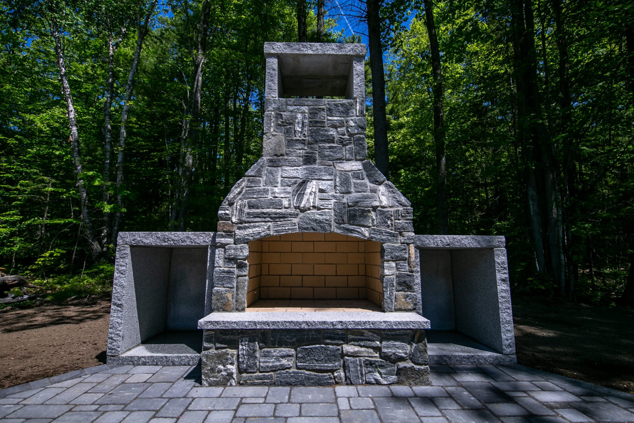 Delgato-American Mist-Outdoor Fireplace-fireplace-patio-Granite- Gagne&Son-pavers-landscaping