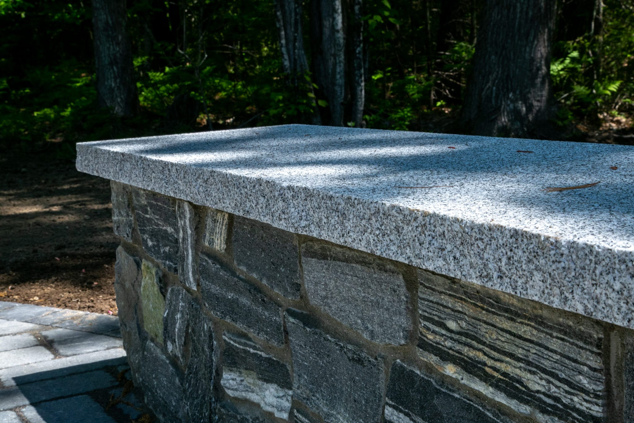 Delgato-stonewall-hardscaping-granite-sitting wall-contractors-landscaping