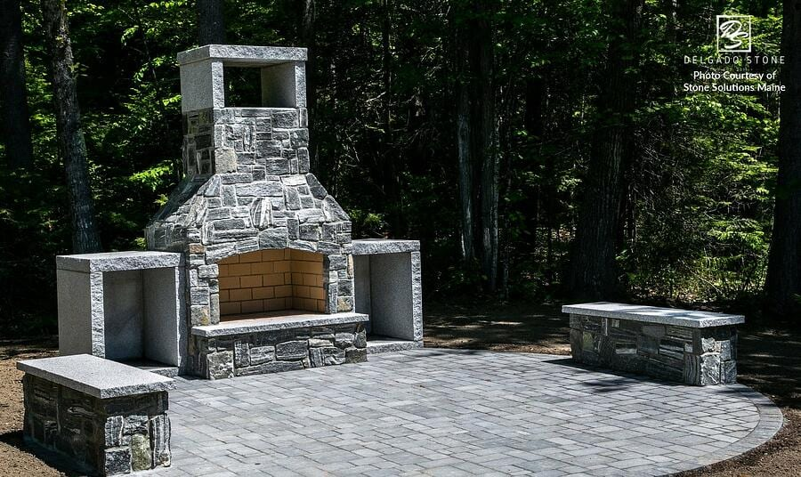 Featured Project: Natural Stone Fireplace in Maine