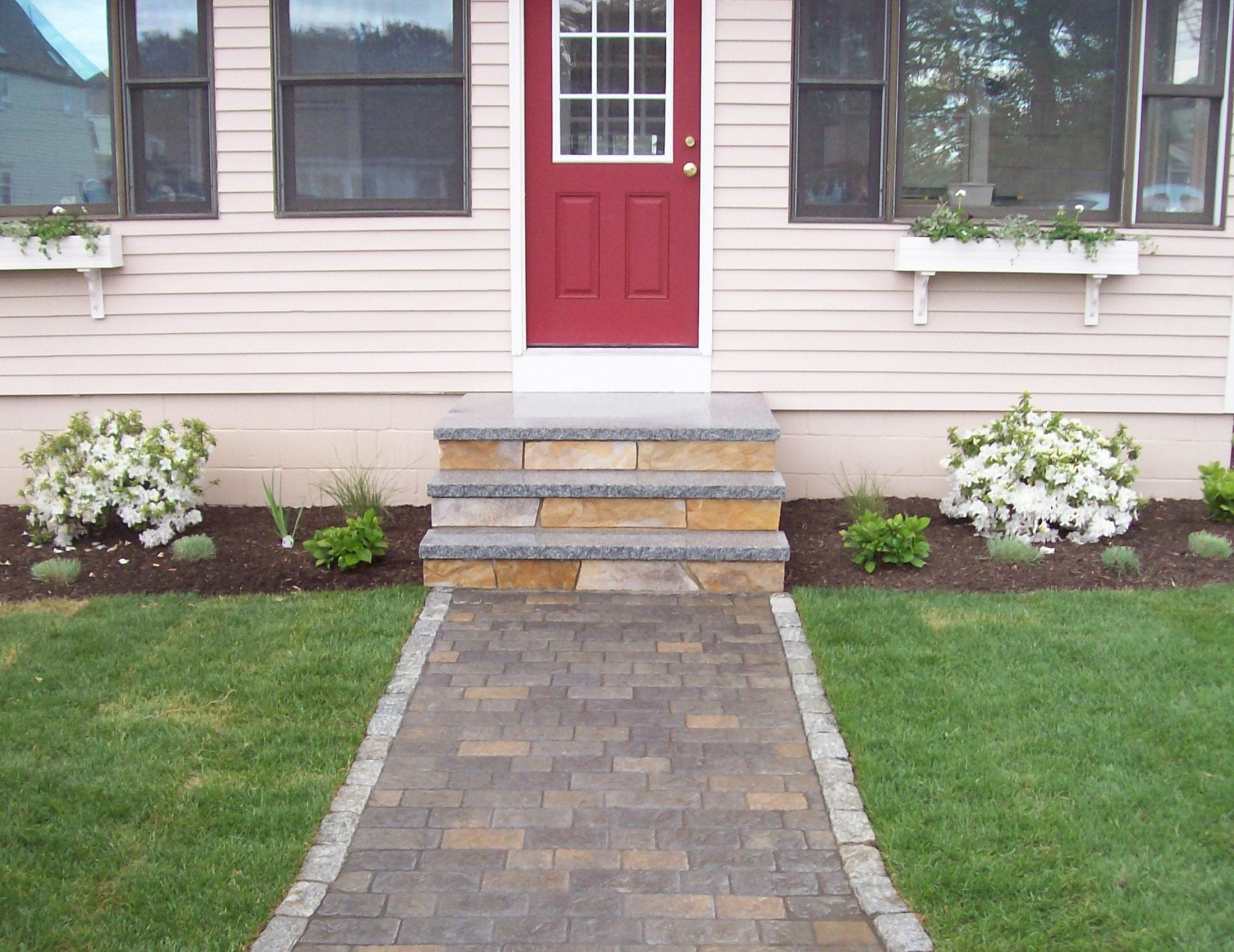 Scarborough-Higgins Beach-pavers-walkway-granite-swenson-Hardscape-masonry contractors-landscaping